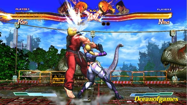 Street Fighter X Tekken game setup