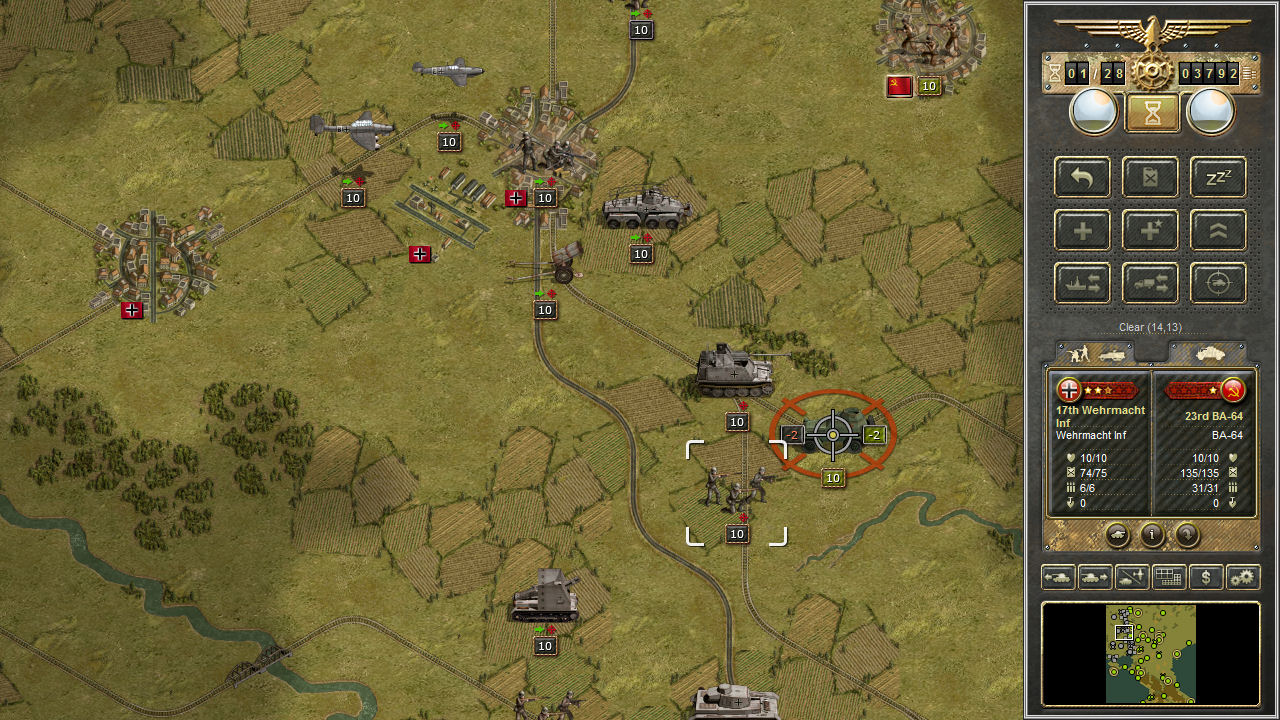 Panzer Corps U.S. Corps Features