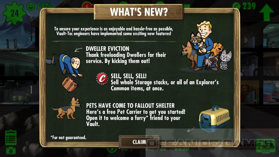 Fallout Shelter 2016 Features